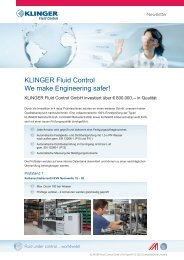 KLINGER Fluid Control We make Engineering safer!