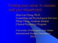Finding your voice: In classes and your department - International ...