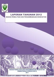 Laporan Tahunan Badan Litbangkes tahun 2012