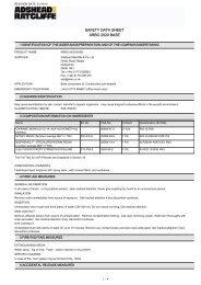 SAFETY DATA SHEET ARBO 2020 BASE