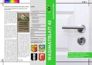 Waidmattblatt Nr. 45 Nachbarschaften (Nov. 2011)