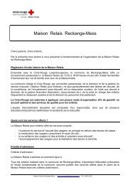 Maison Relais Reckange-Mess - Croix-Rouge luxembourgeoise