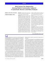 Risk Factors for Depression Among Elderly ... - PsychiatryOnline