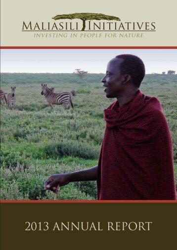 Maliasili-Initiatives-2013-Annual-Report