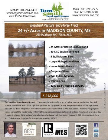 24 +/- Acres in MADISON COUNTY, MS - Megaagent.com