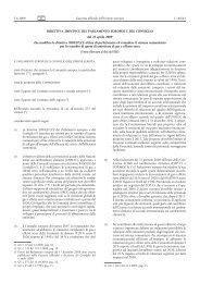 Direttiva 2009/29/CE del Parlamento europeo e del Consiglio, del ...