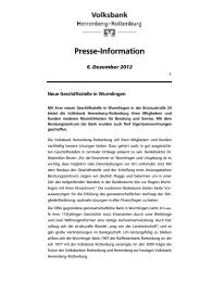 Neue Geschäftsstelle in Wurmlingen - Volksbank Herrenberg ...