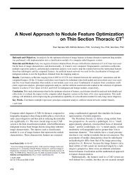 A Novel Approach to Nodule Feature Optimization on Thin Section ...
