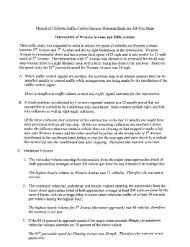 Manual of Uniform Traffic Control Devices Warrants ... - Yuba County