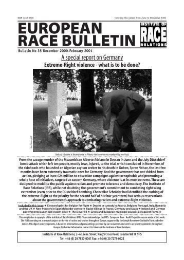EUROPEAN RACE BULLETIN - Institute of Race Relations