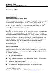Rund ums Geld Sparsam gärtnern - ING DiBa Direktbank Austria