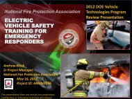 Electric Vehicle Safety Training for Emergency Responders - EERE