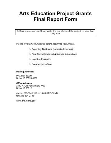 Writing Sample Final Report  Media Arts Grants  SxaPortfolioCom