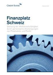 Finanzplatz Schweiz - Credit Suisse - Deutschland