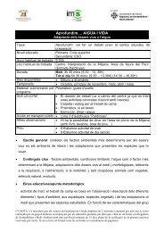 Aprofundim.... AIGUA I VIDA - Ajuntament de Lleida