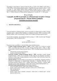Pravilnik o pogojih, merilih in postopku za sofinanciranje ... - Ljubljana