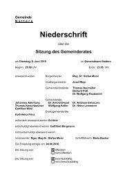 Protokoll vom 8.6.2010 (39 KB) - .PDF - Natters - Land Tirol