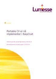 Portable CV er nå implementer i EasyCruit - Lumesse