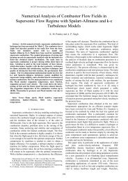 Numerical Analysis of Combustor Flow Fields in Supersonic ... - IJET