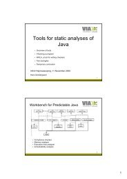 Tools for static analyses of Java - InfinIT