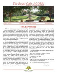 The Royal Oaks ACORN - Royal Oaks Resident Portal