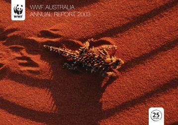 WWF AUSTRALIA ANNUAL REPORT 2003