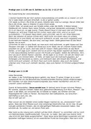 Predigt vom 1. Nov. 09 von S. Zolliker zu Lukas 10 - EMK Thun ...