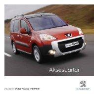 Partner Tepee aksesuar broşürü - Peugeot