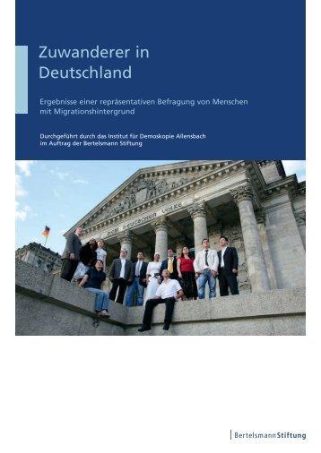 Zuwanderer in Deutschland - Institut für Demoskopie Allensbach