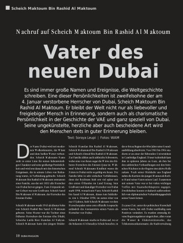 Nachruf auf Scheich Maktoum Bin Rashid Al ... - Dubai Media AG