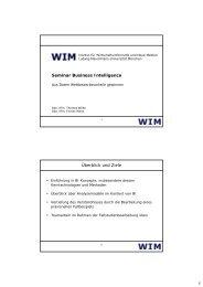 Foliensatz Thomas Wilde - Institut für Wirtschaftsinformatik und neue ...