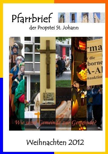 Pfarrbrief - Propstei St. Johann