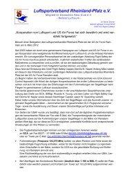 Bericht im Luftsport - Luftsportverband Rheinland-Pfalz eV