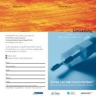 Einladung - Technologie Stiftung Brandenburg