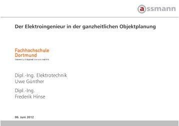 Der Elektroingenieur in der ganzheitlichen Objektplanung Dipl.-Ing ...