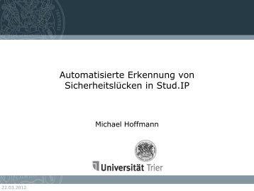 Automatisierte Erkennung von Sicherheitslücken in Stud.IP