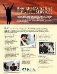 RHA BEHAVIORAL HEALTH SERVICES