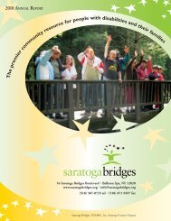 2010 ANNUAL REPORT e r m e om it s an fa s - Saratoga Bridges