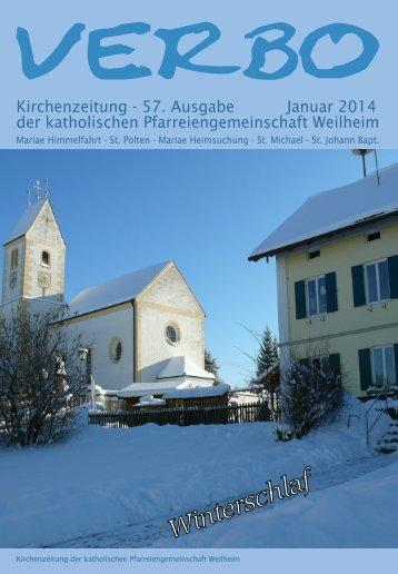 VERBO-Januar 2014 - Katholische Pfarreiengemeinschaft Weilheim