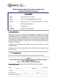 RICS Hong Kong Meet-the-President Reception and ... - RICS Asia
