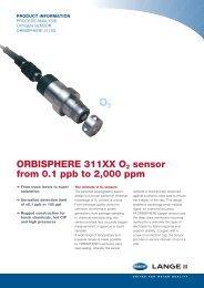ORBISPHERE 311XX O2 sensors - HACH LANGE
