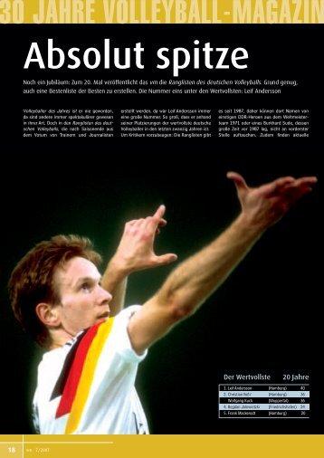 Best of 20 Jahre - Deutscher Volleyball-Verband