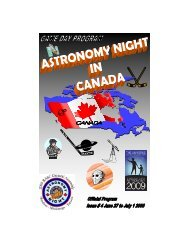 official game day program - Royal Astronomical Society of Canada