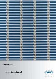 Design: Sambesi CreativeWEAVE - E. Pfister & Cie AG
