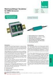 Burster Typ 9236, Komplettes Datenblatt - Industrie-Schweiz