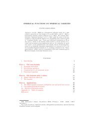 Spherical functions on spherical varieties. - Mathematics ...