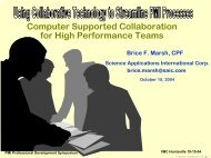 Computer Supported Collaboration For High Performance Teams