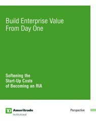 Build Enterprise Value From Day One - TD Ameritrade Institutional