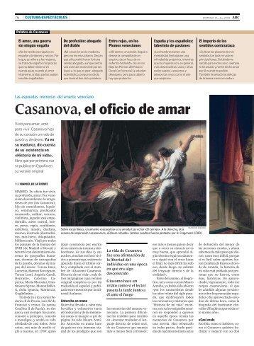 Casanova, el oficio de amar
