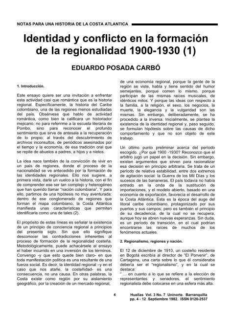 Identidad y conflicto en la formación de la regionalidad 1900-1930 (1)